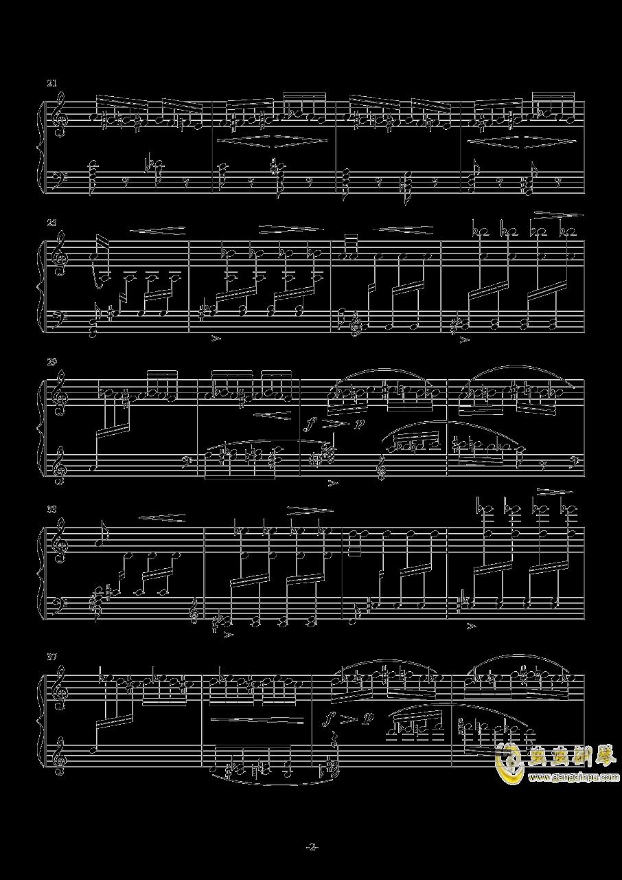野蜂飞舞钢琴谱 第2页
