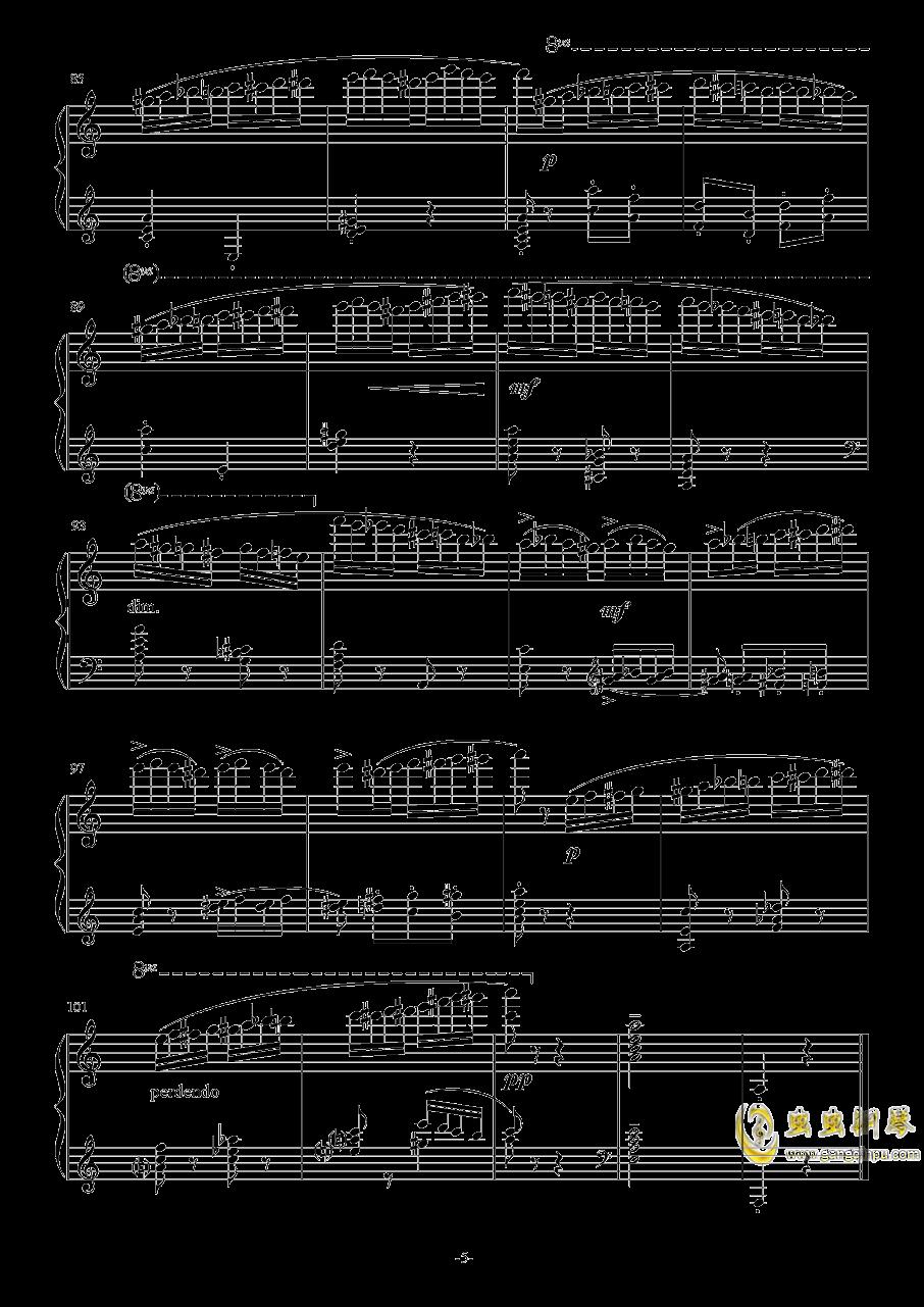 野蜂飞舞钢琴谱 第5页