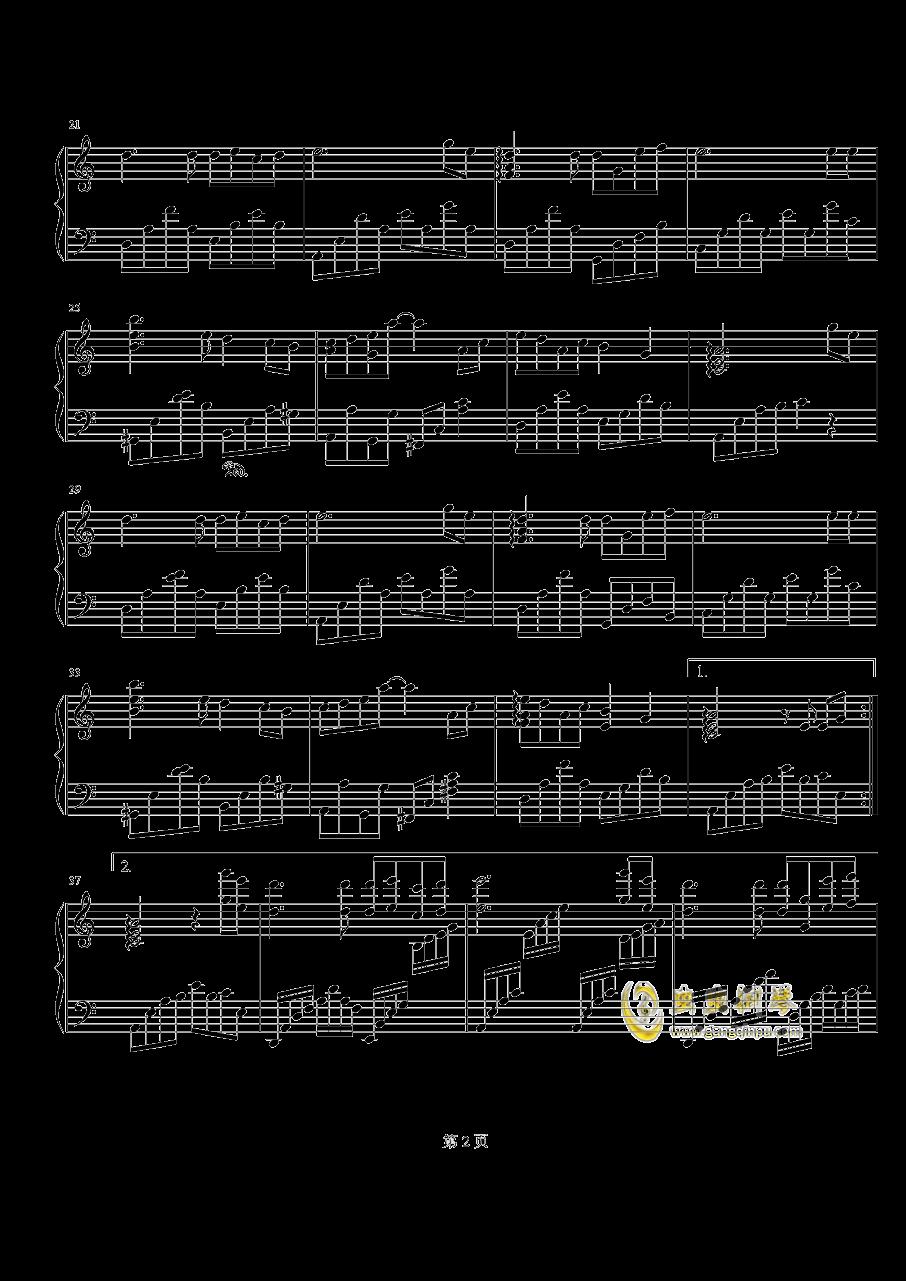 烟花易冷钢琴谱 第2页
