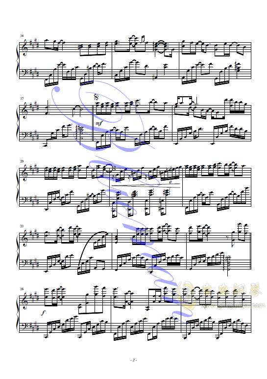 等不到的爱钢琴谱 第2页