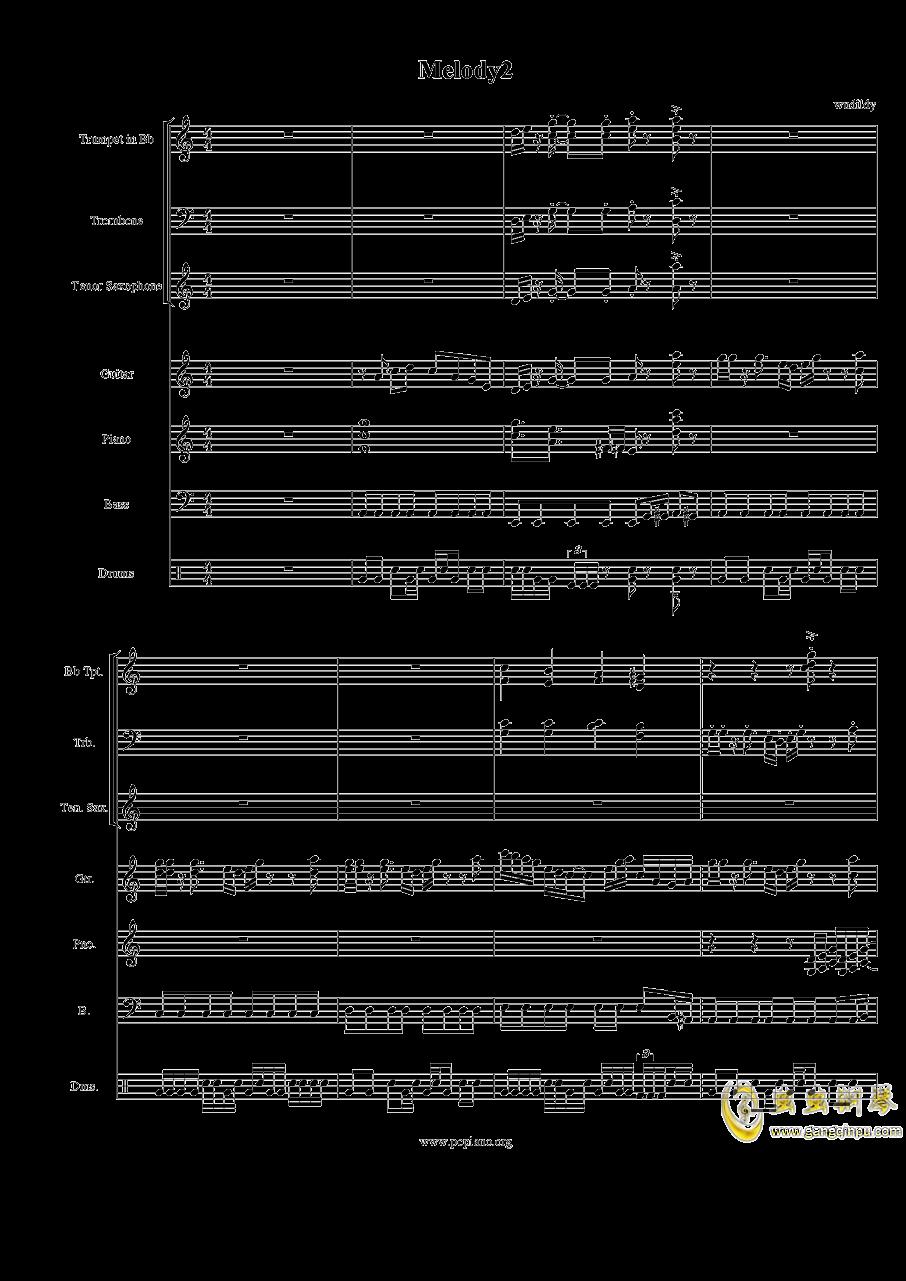 Melody2渐离魔音钢琴谱 第1页