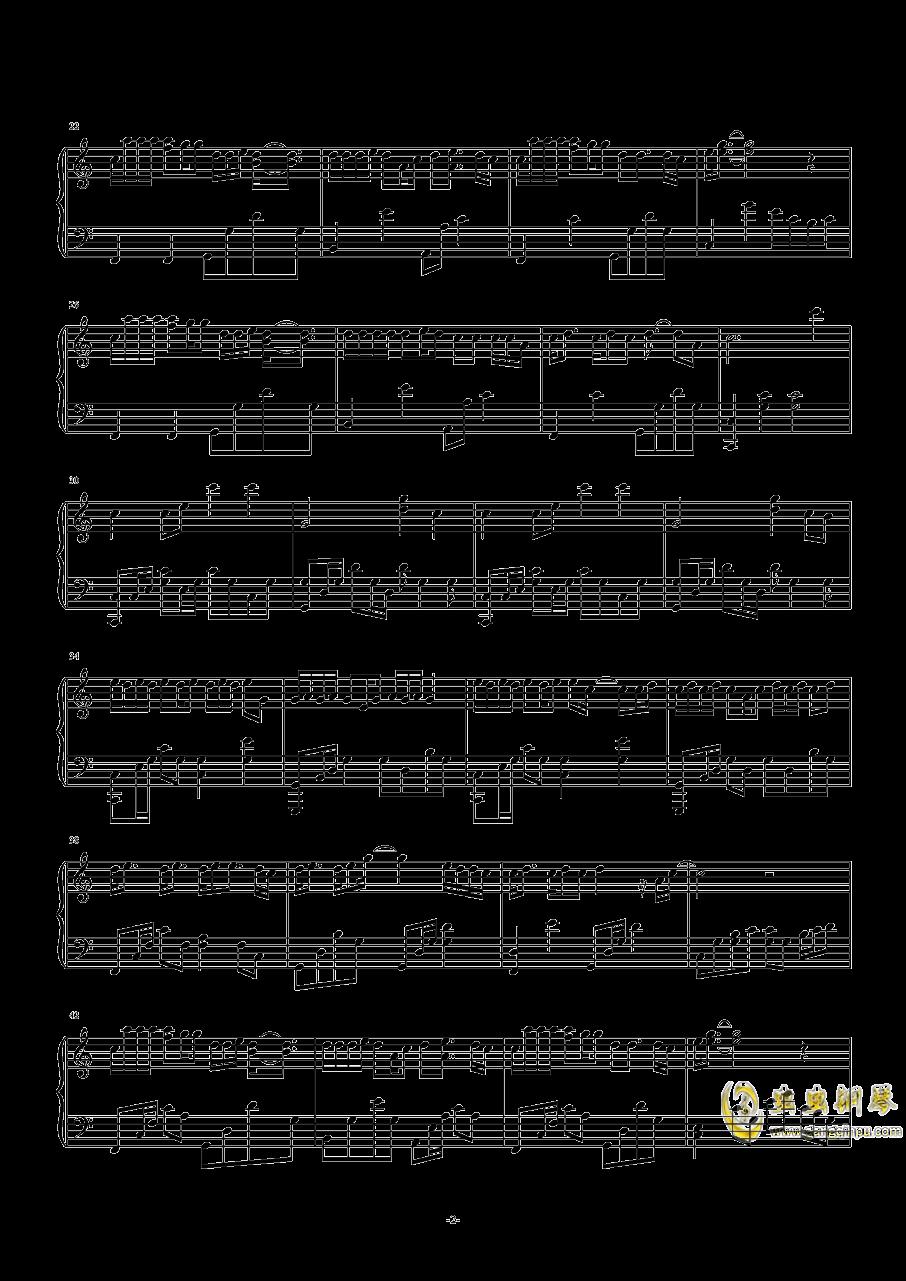 走马钢琴谱 第2页