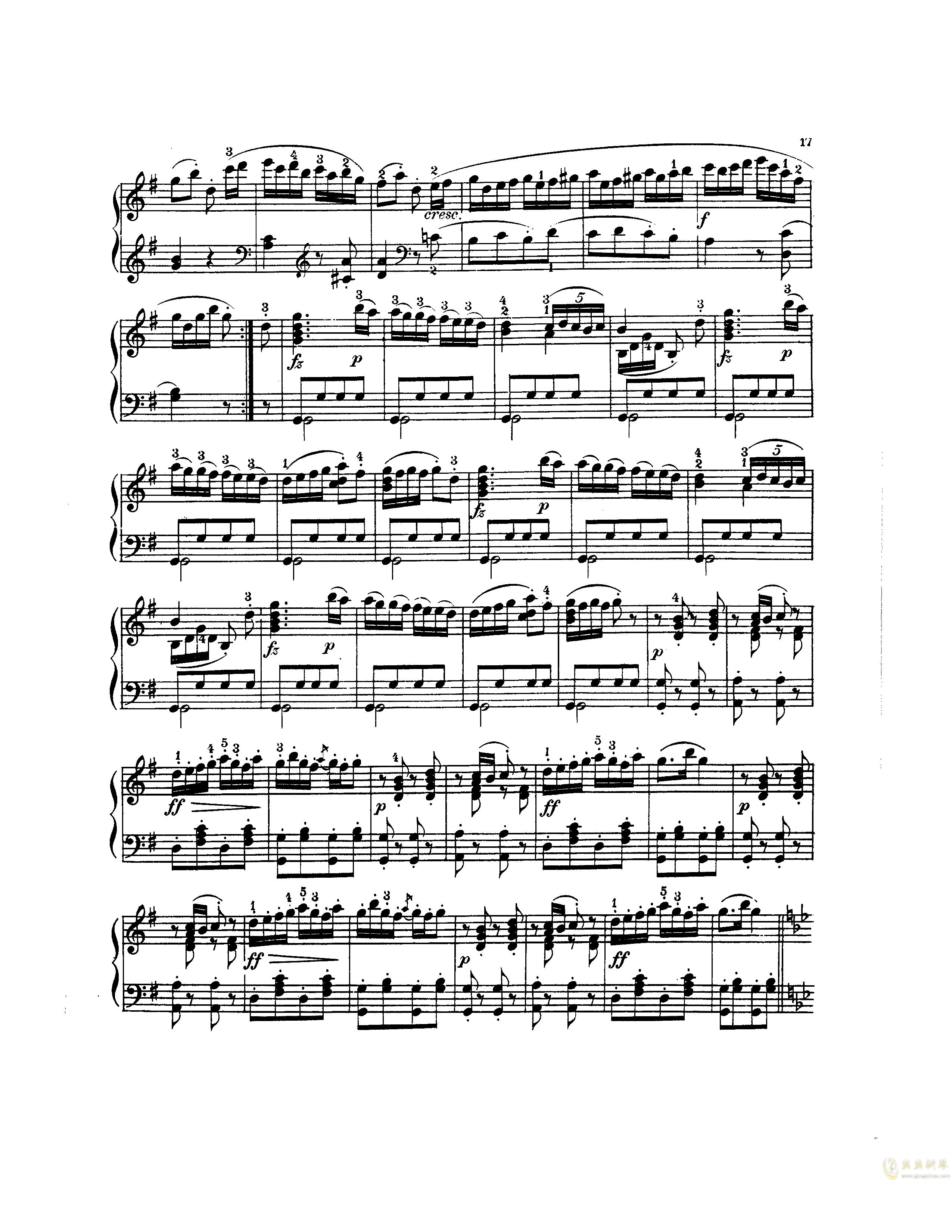 吉普赛回旋曲钢琴谱 第2页