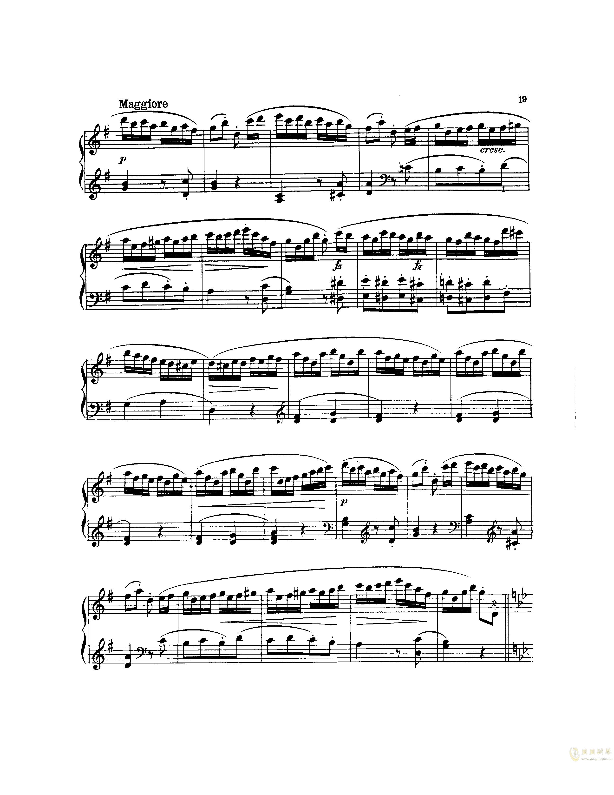 吉普赛回旋曲钢琴谱 第4页