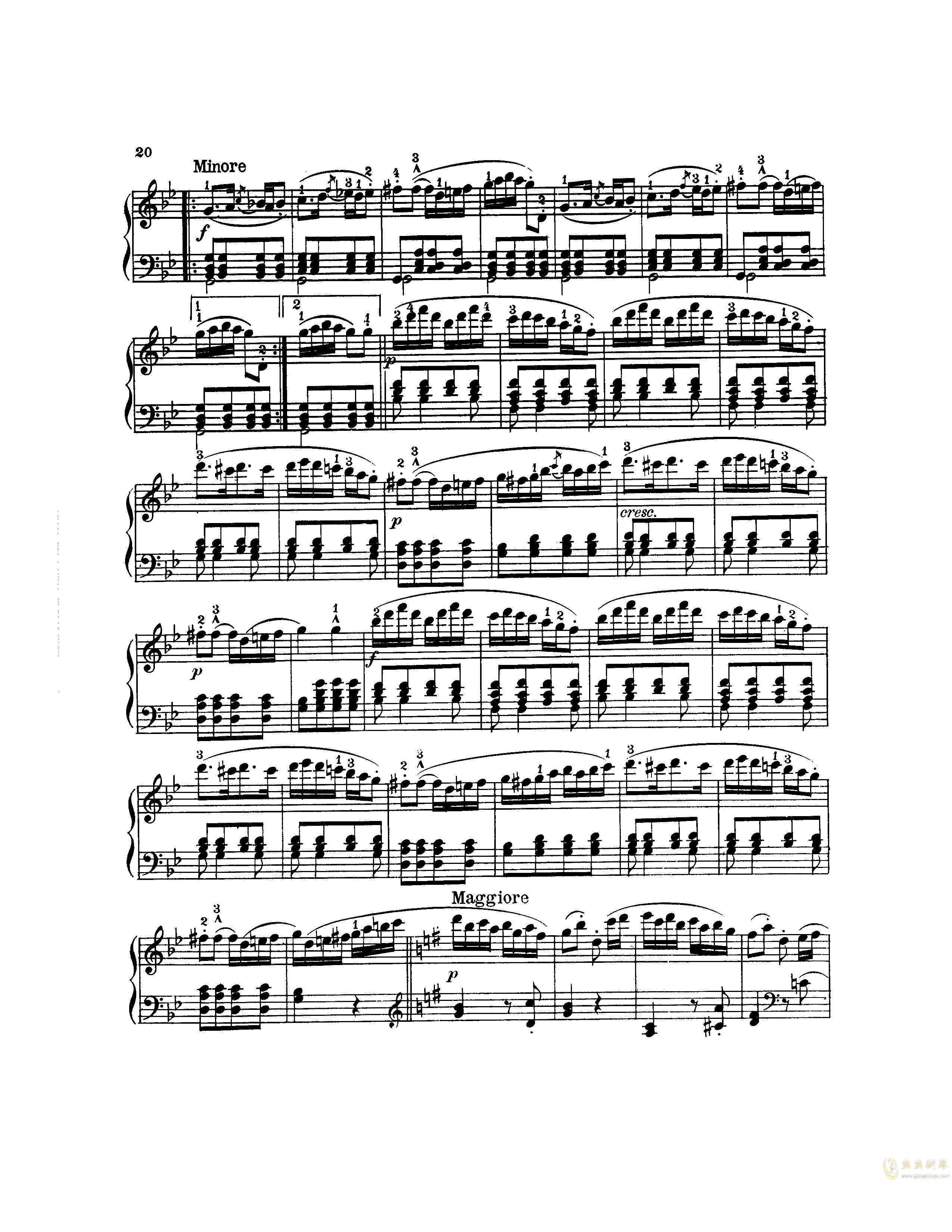 吉普赛回旋曲钢琴谱 第5页