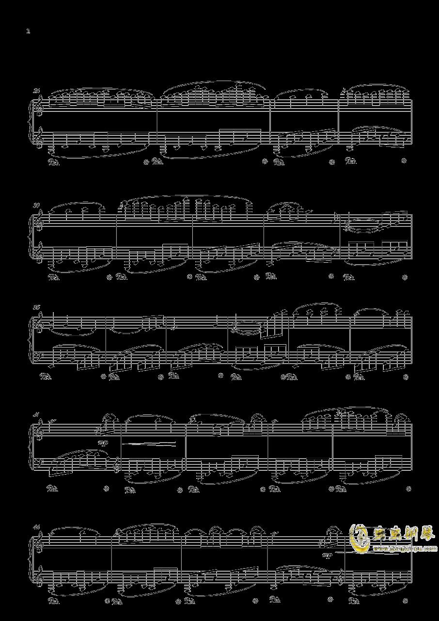 忧钢琴谱 第2页