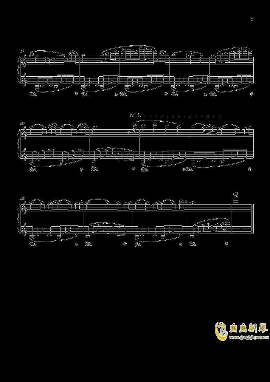 忧钢琴谱 第3页