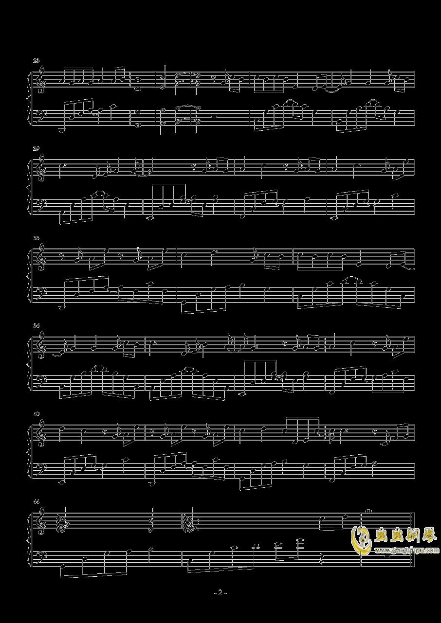 岁月神偷钢琴谱 第2页