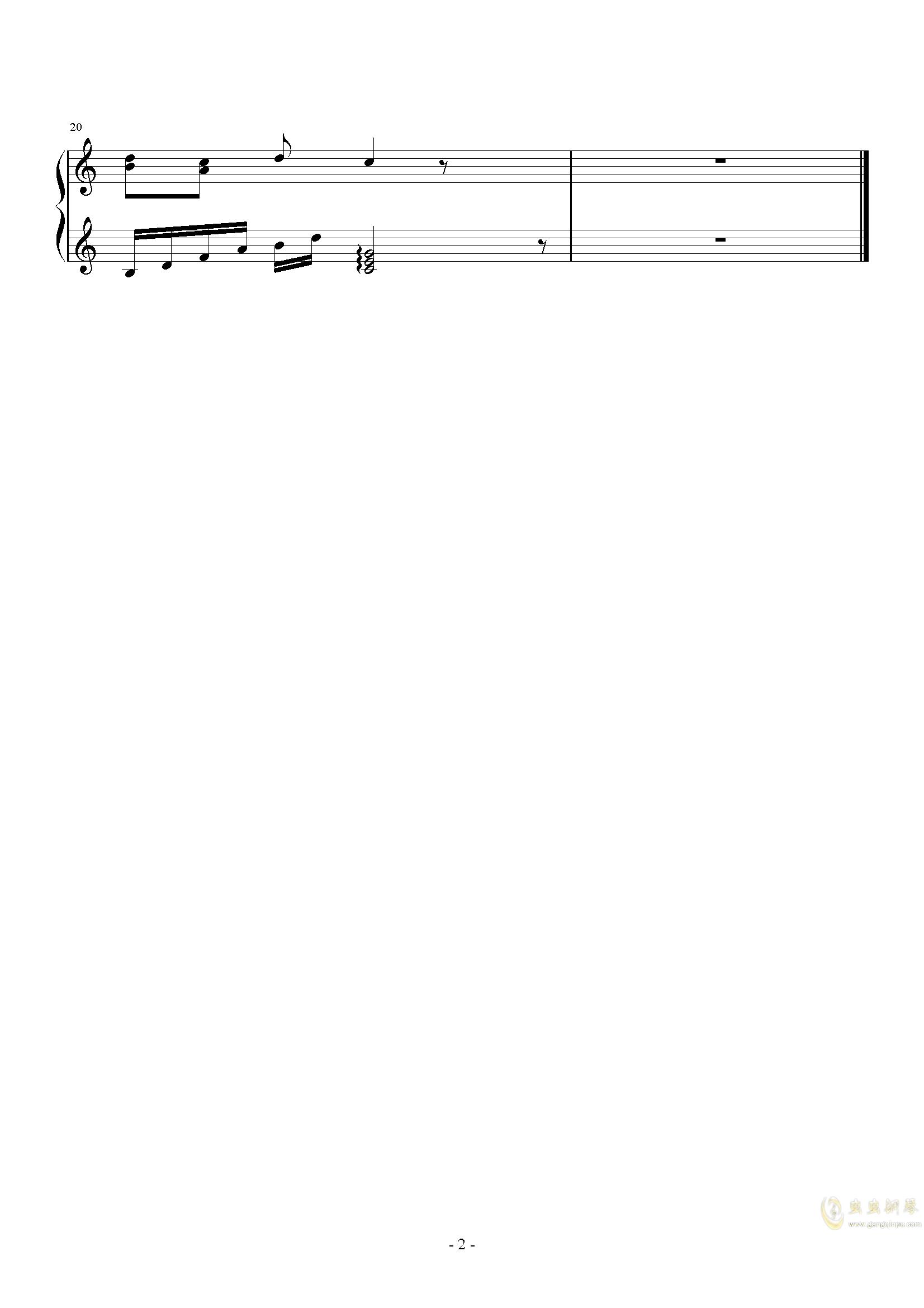魔法咪路咪路ED1钢琴谱 第2页