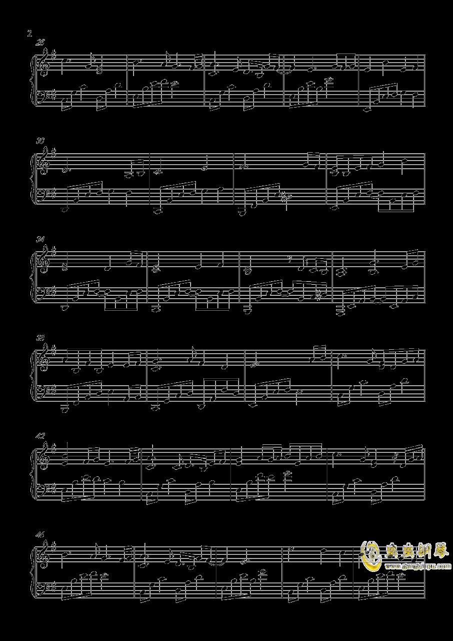 天地无霜钢琴曲谱