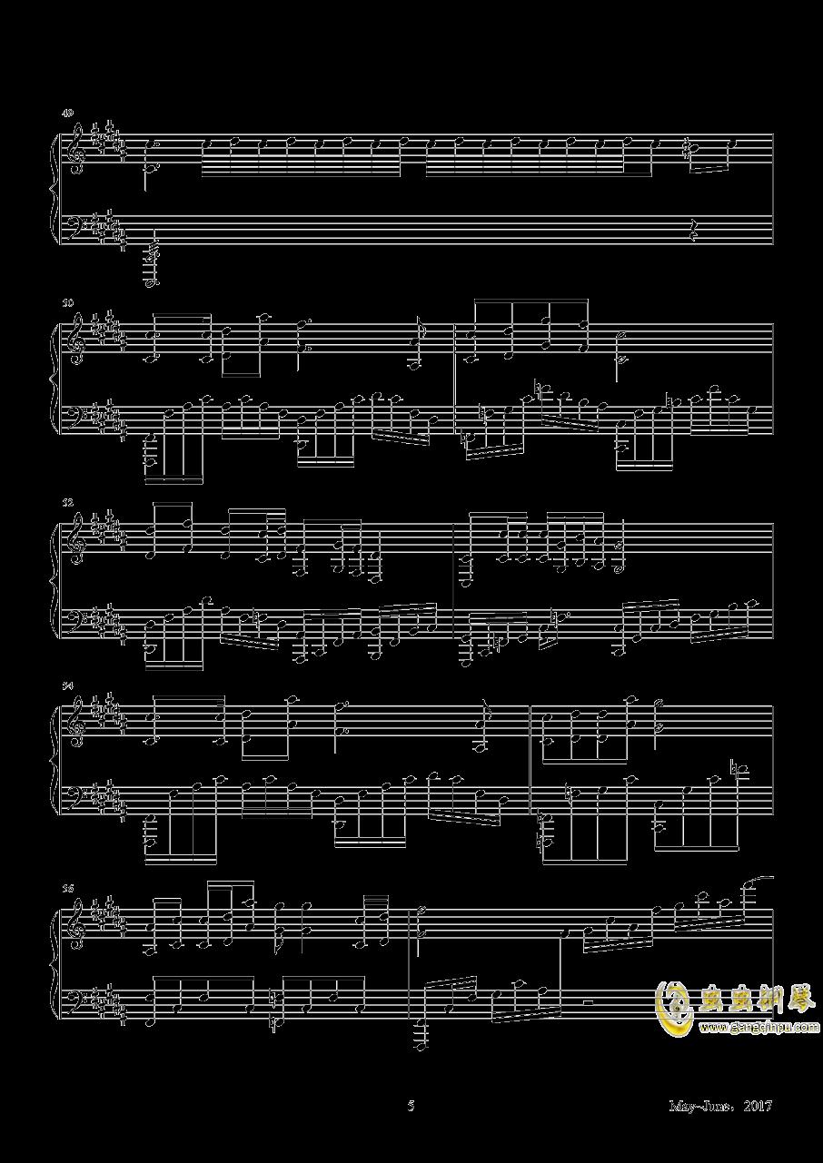母亲节钢琴谱 第5页
