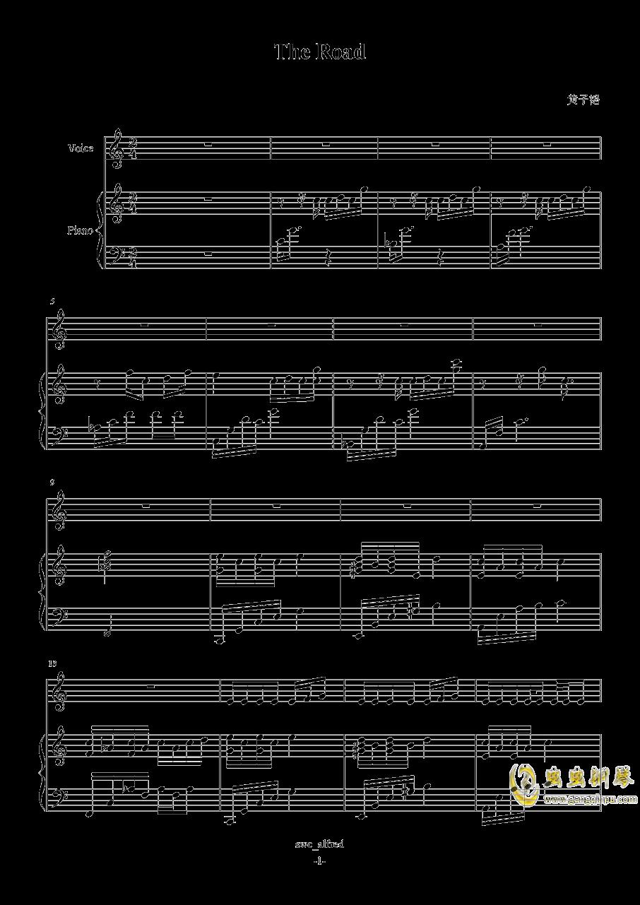 The Road钢琴谱 第1页