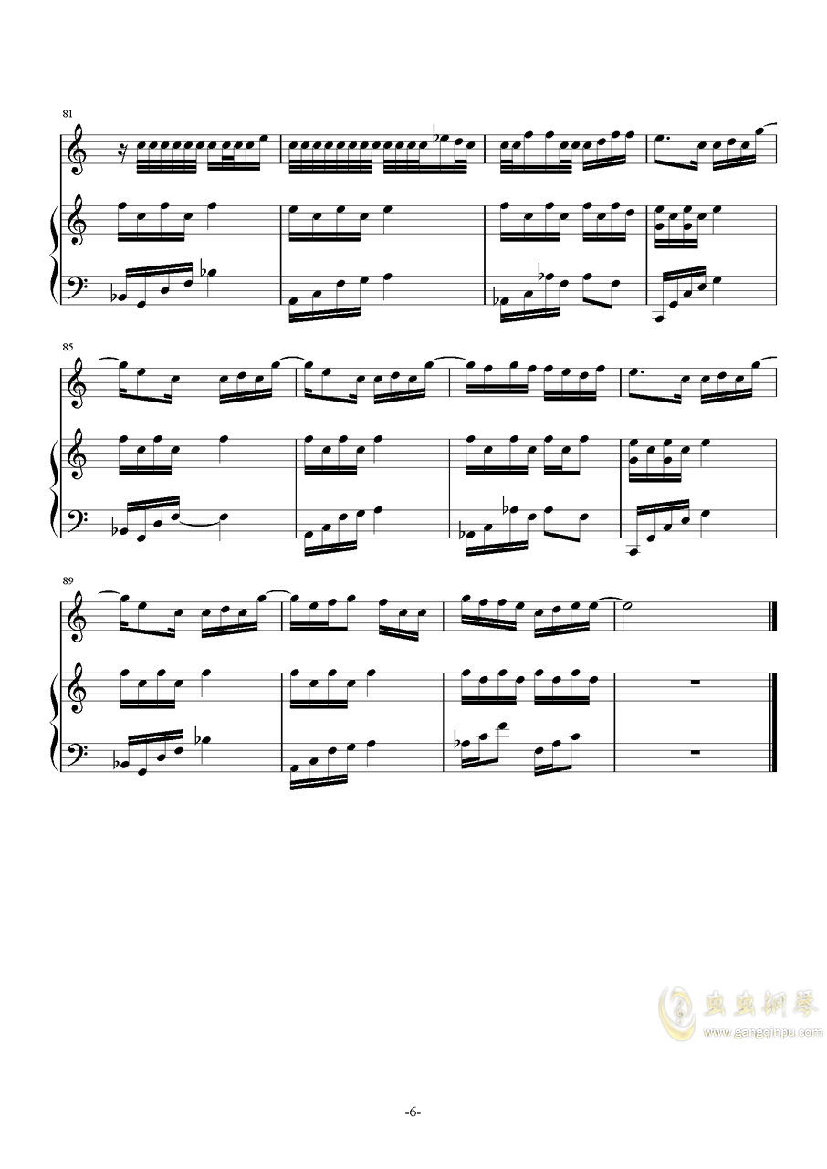 The Road钢琴谱 第6页