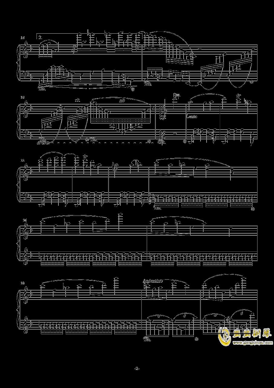 F大调叙事曲品月钢琴谱 第2页