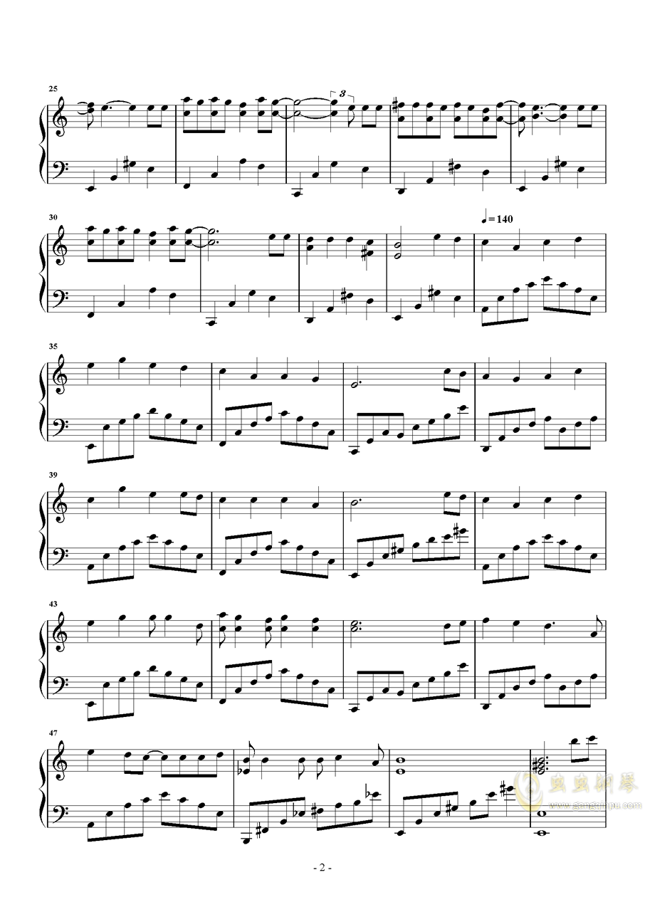 童话镇 原声版钢琴谱 第2页