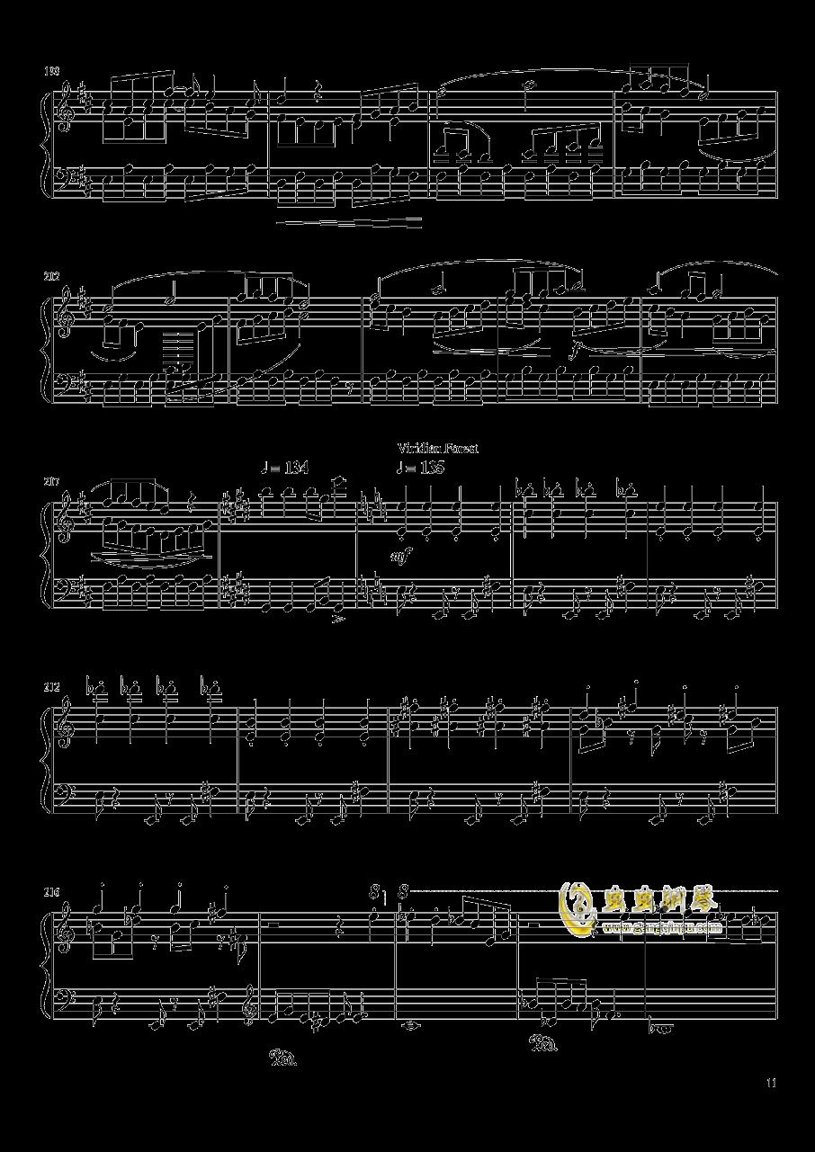 口袋妖怪初代全BGM串烧钢琴谱 第11页