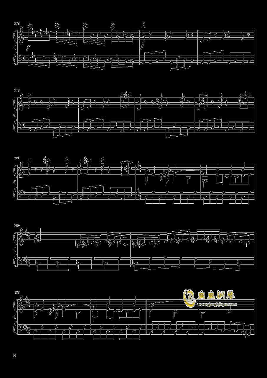 口袋妖怪初代全BGM串烧钢琴谱 第14页