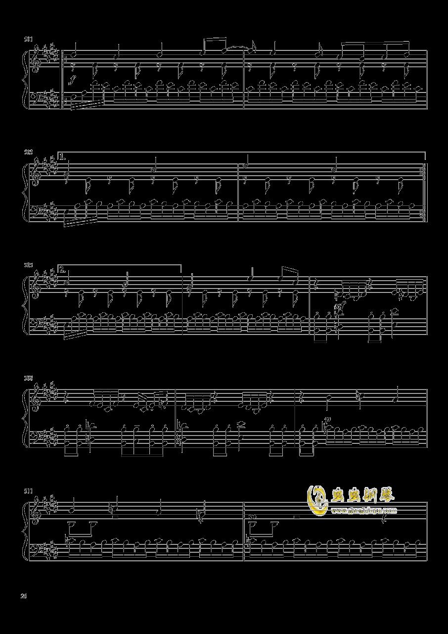 口袋妖怪初代全BGM串烧钢琴谱 第26页