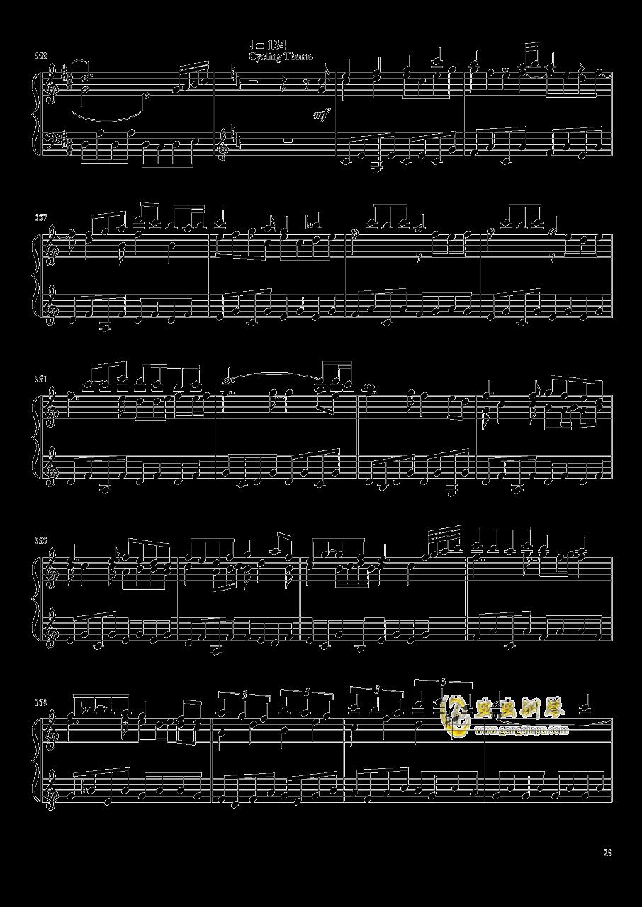 口袋妖怪初代全BGM串烧钢琴谱 第29页