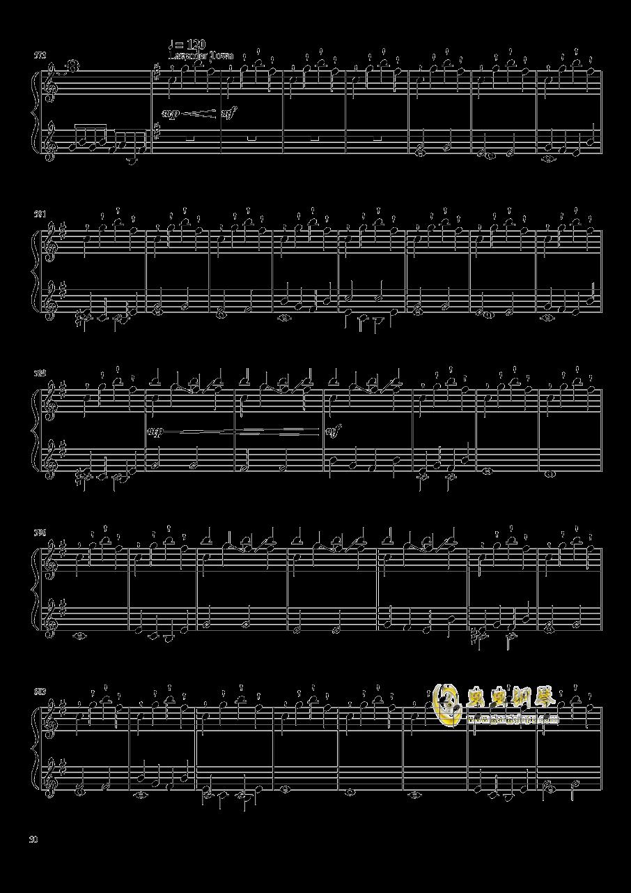 口袋妖怪初代全BGM串烧钢琴谱 第30页