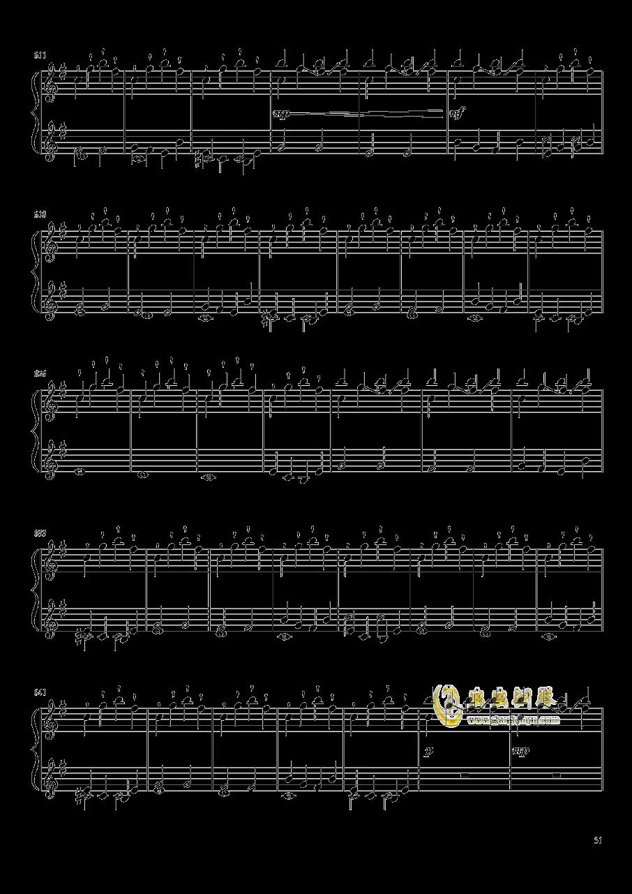口袋妖怪初代全BGM串烧钢琴谱 第31页