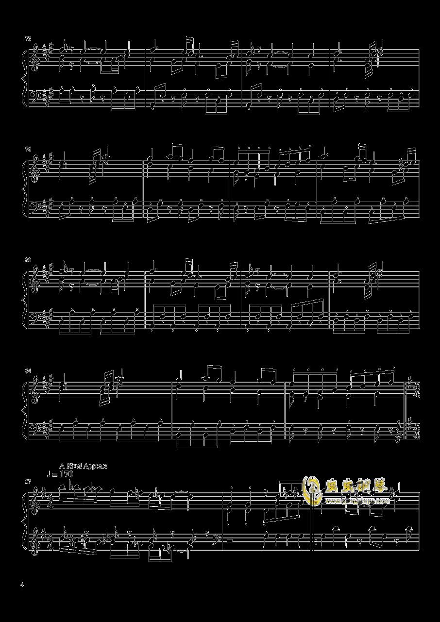 口袋妖怪初代全BGM串烧钢琴谱 第4页