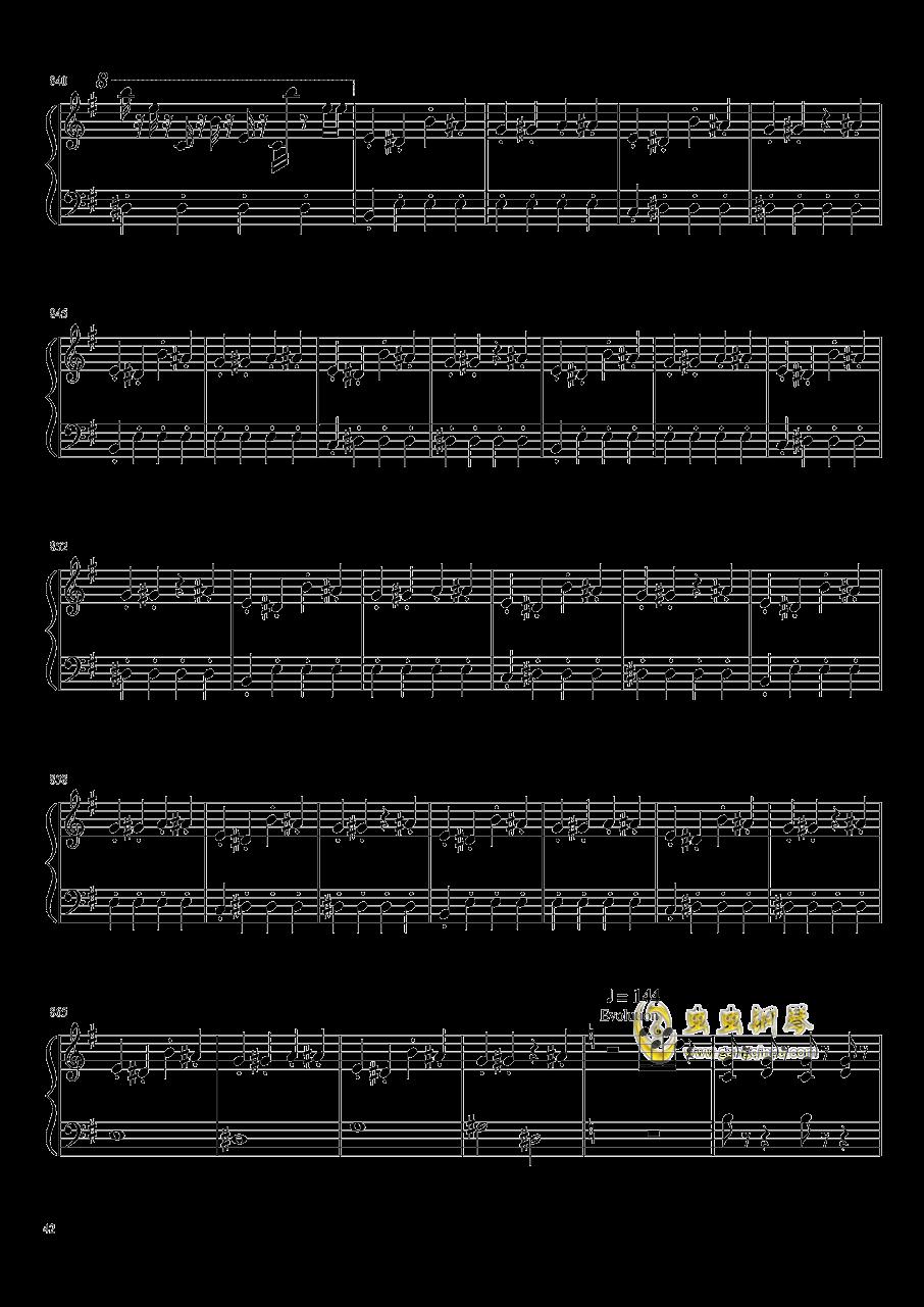口袋妖怪初代全BGM串烧钢琴谱 第42页