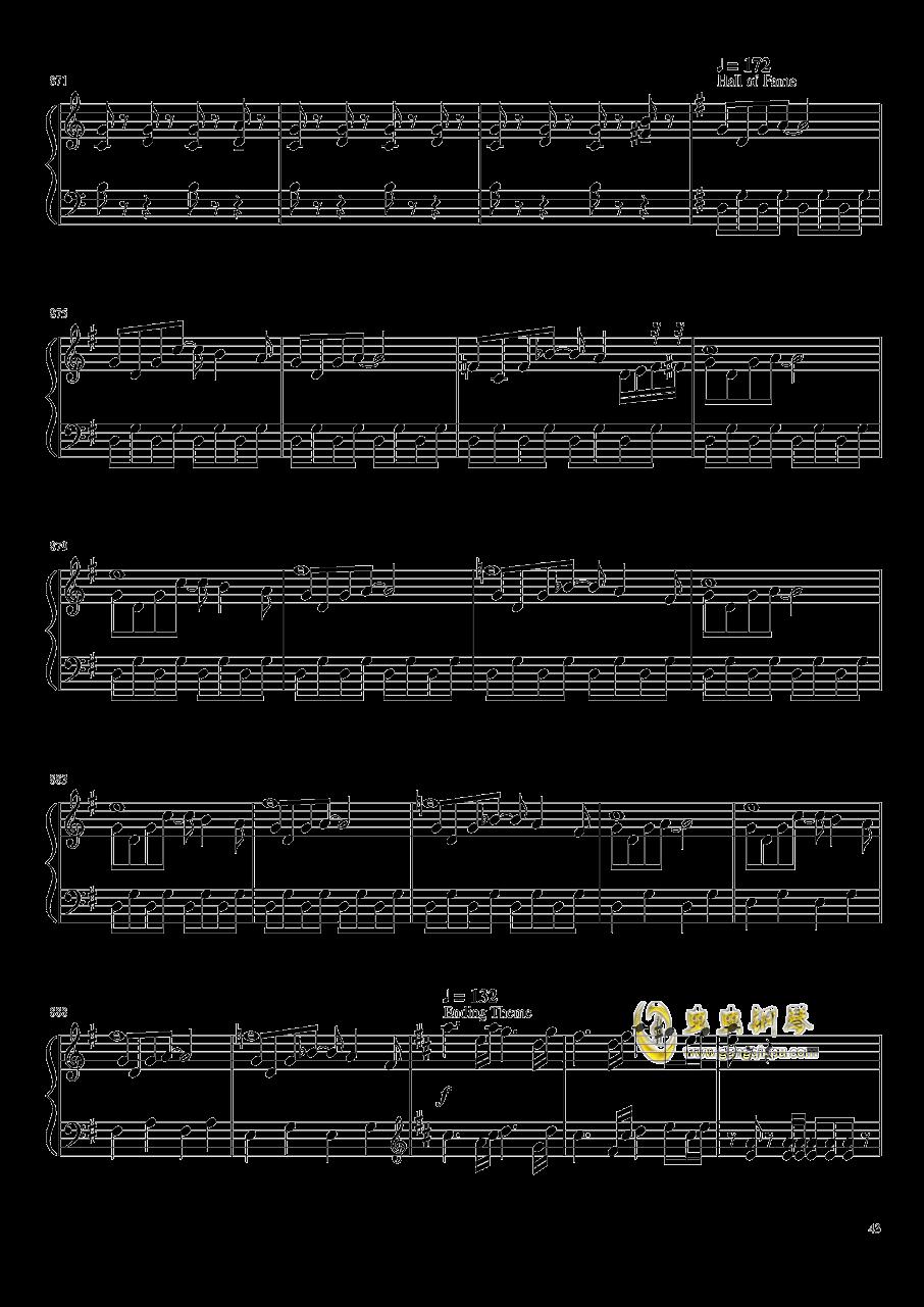 口袋妖怪初代全BGM串烧钢琴谱 第43页