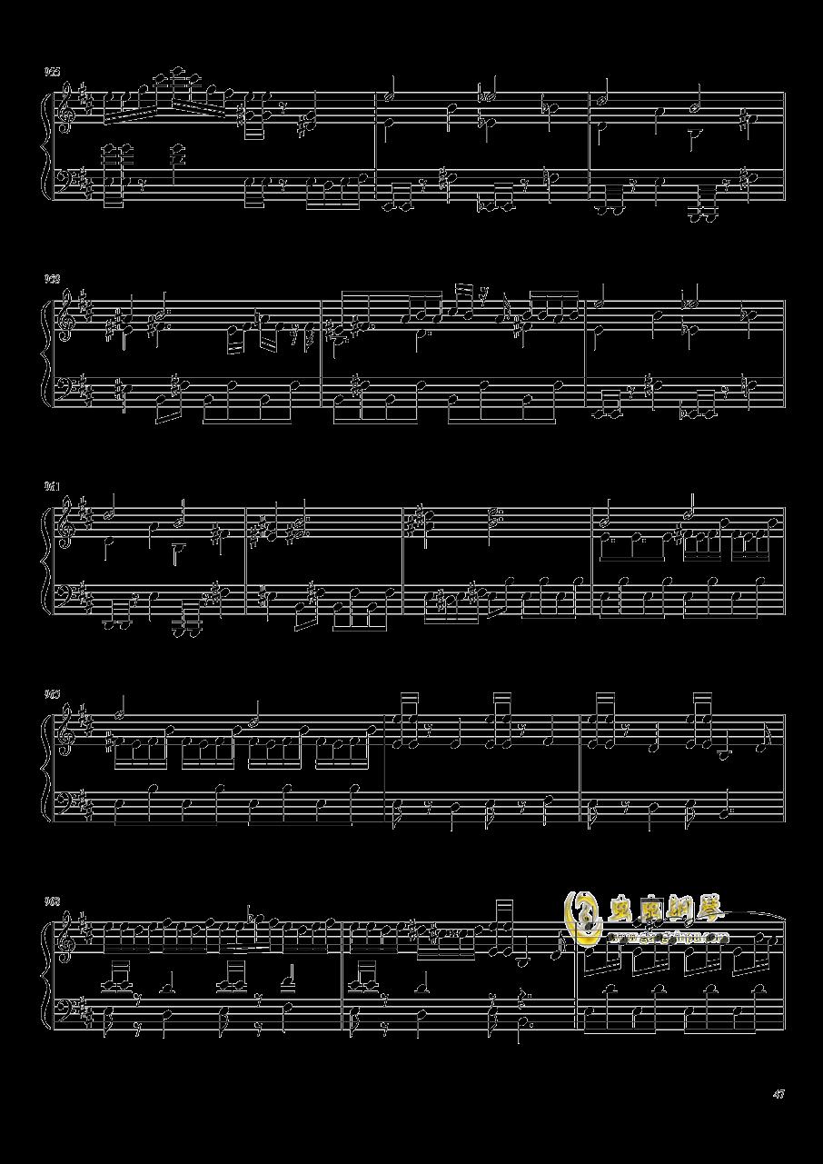 口袋妖怪初代全BGM串烧钢琴谱 第47页