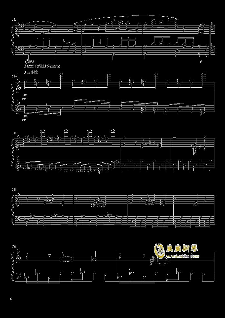 口袋妖怪初代全BGM串烧钢琴谱 第6页