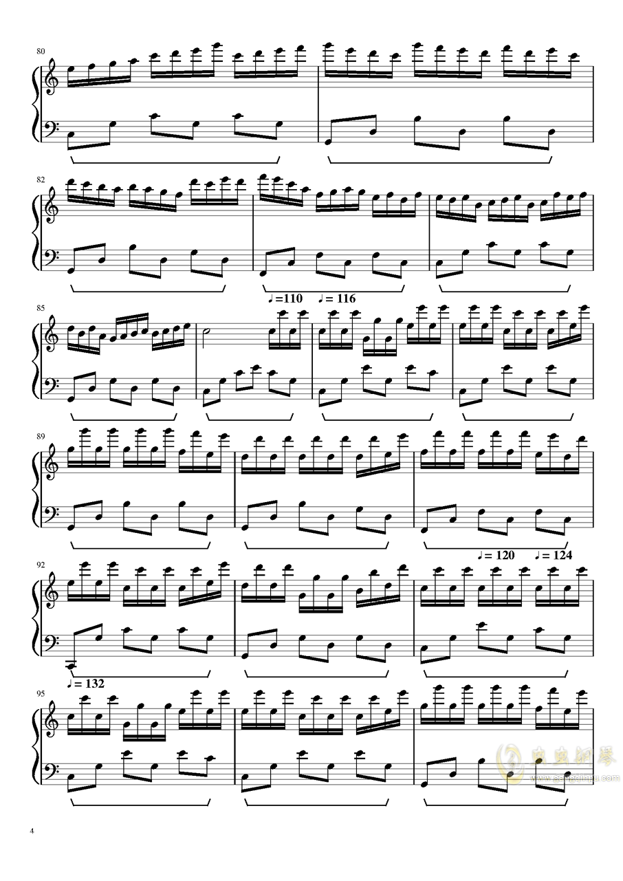 新年好2018钢琴谱 第4页图片