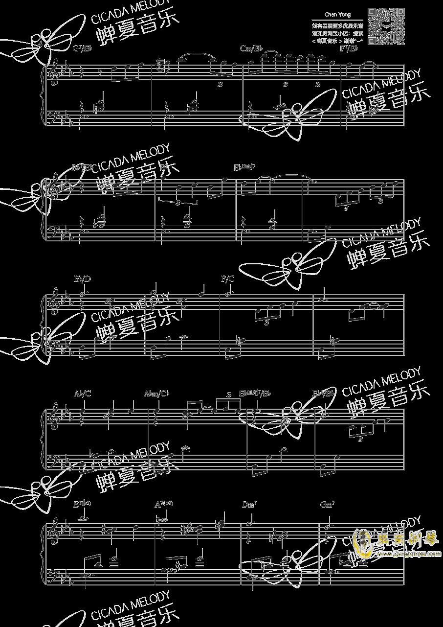 夜曲钢琴谱 第4页