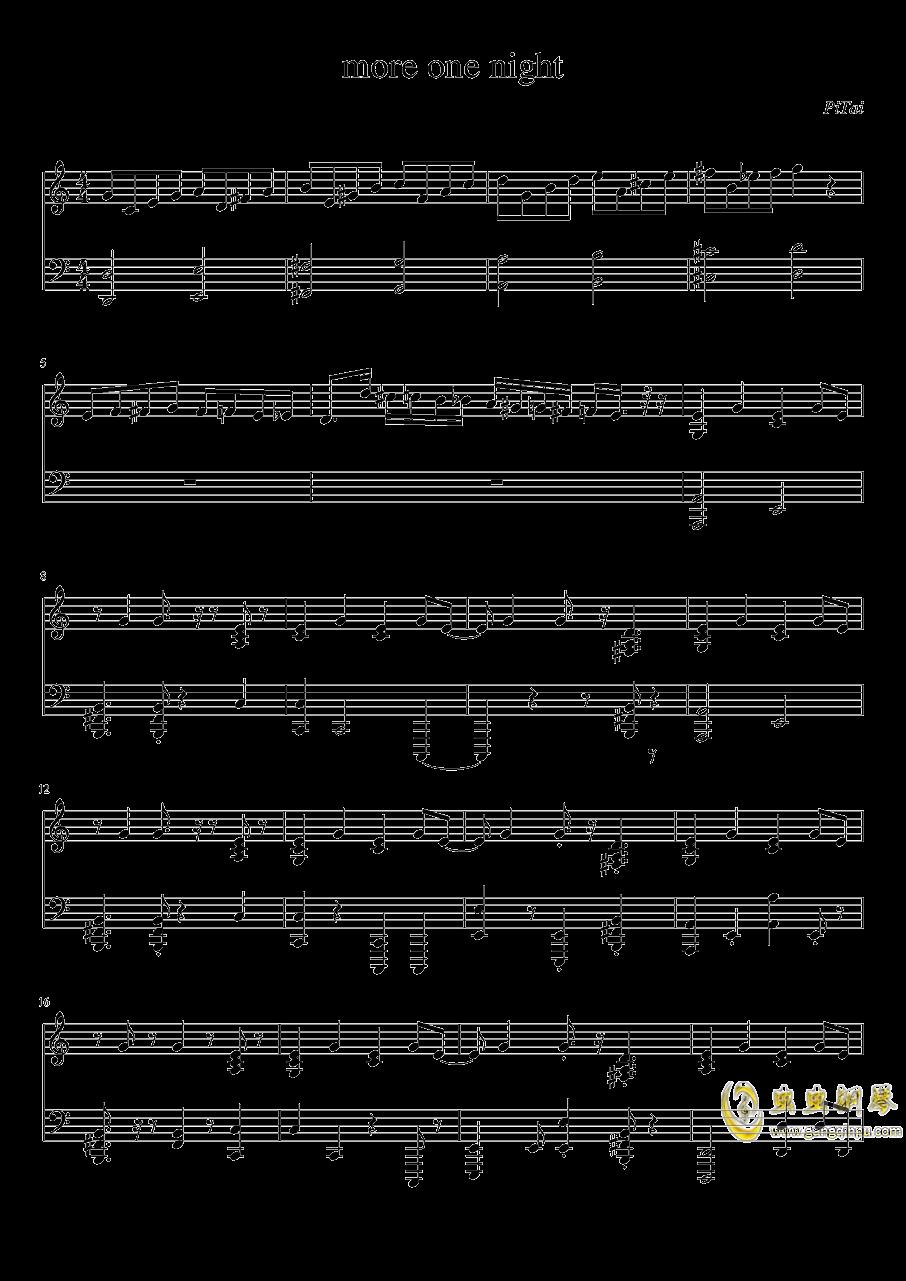 more one night钢琴谱 第1页