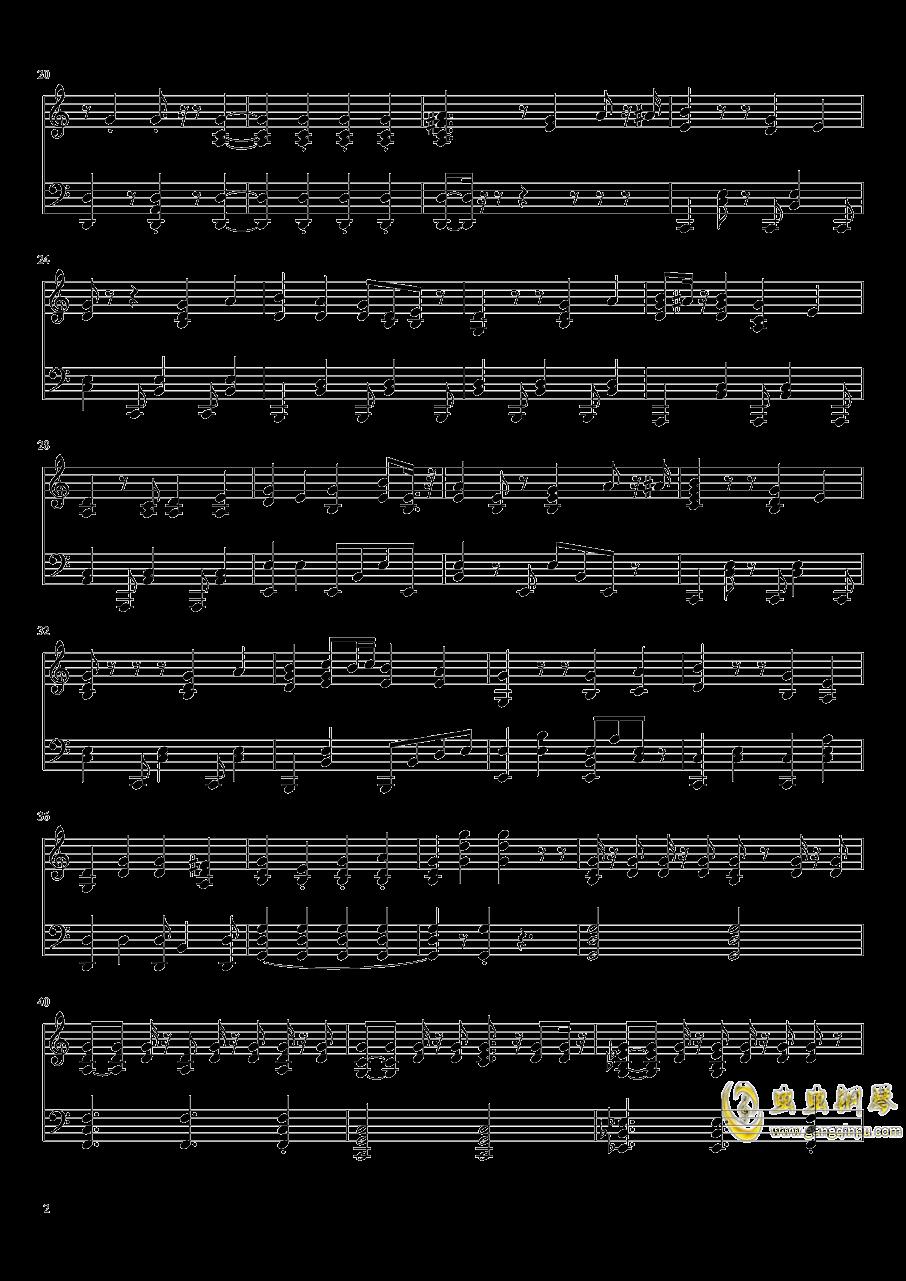more one night钢琴谱 第2页