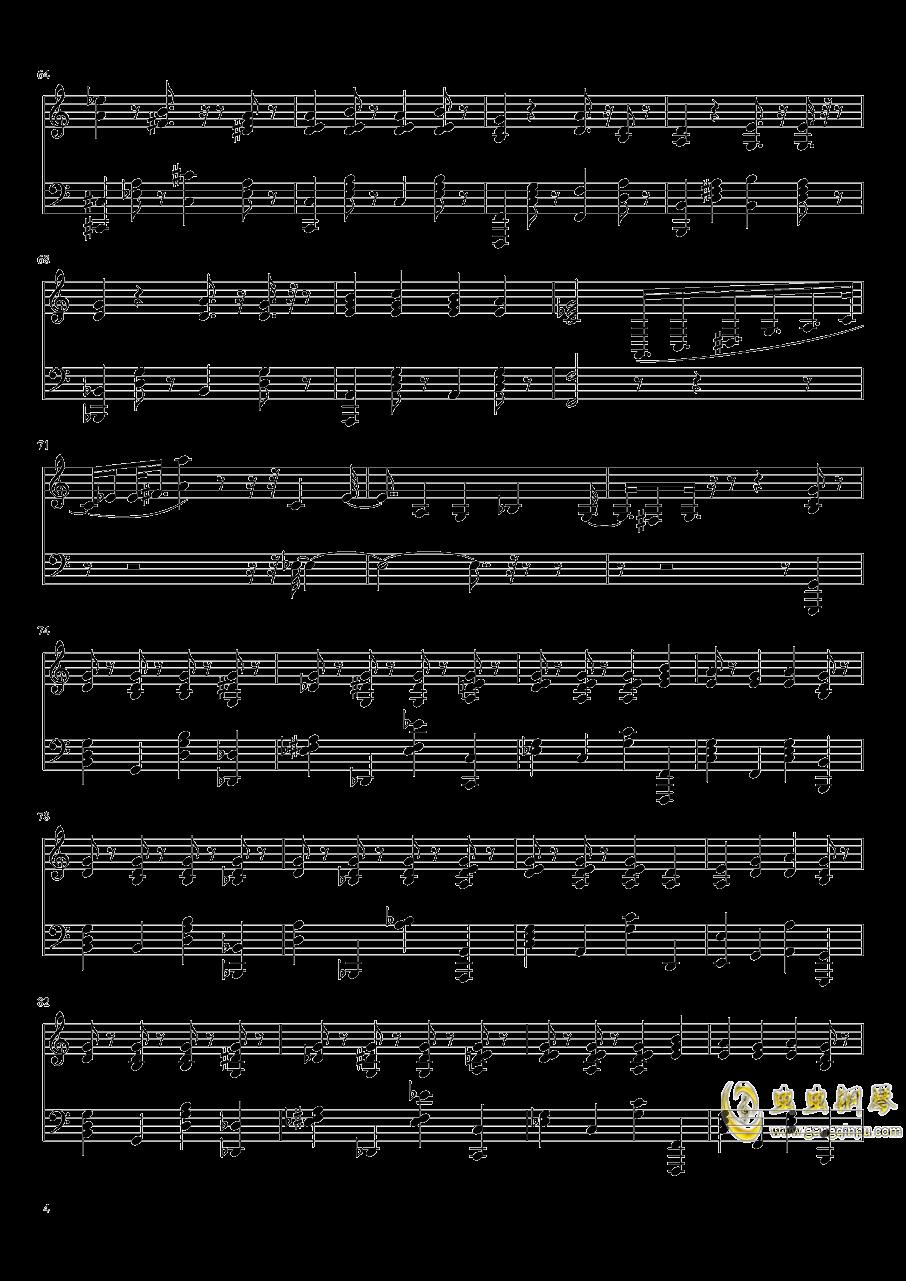 more one night钢琴谱 第4页
