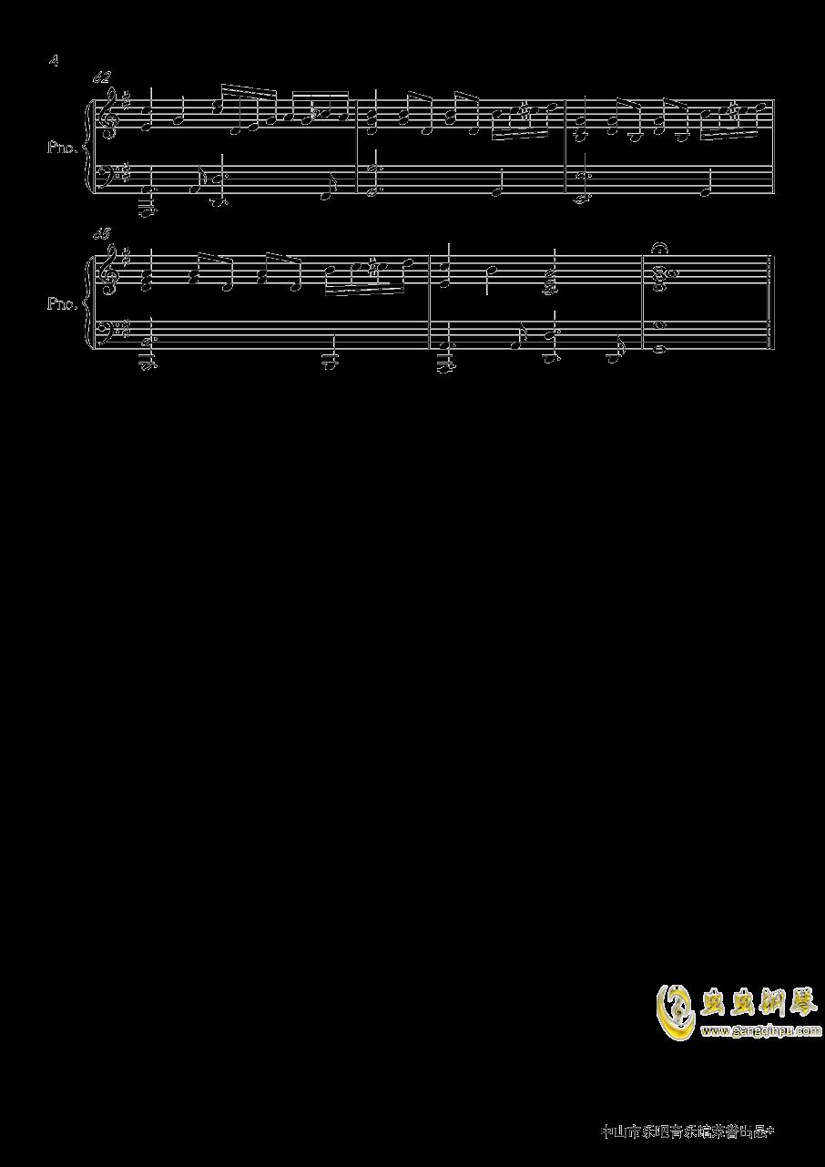香水钢琴谱 第4页