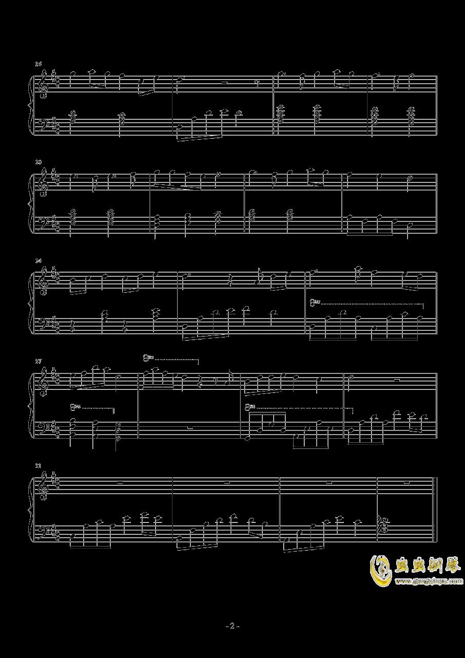 初見钢琴谱 第2页