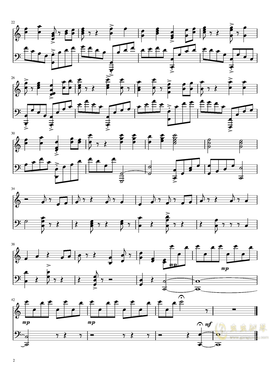 少女终末旅行开场曲钢琴谱 第2页