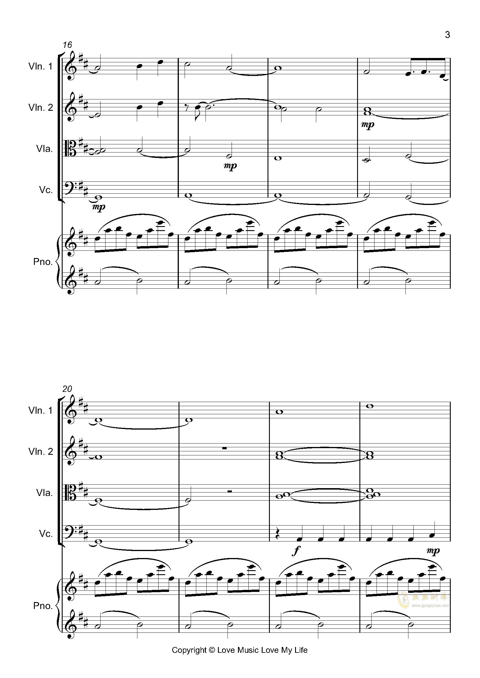 はじめての、�|京钢琴谱 第3页