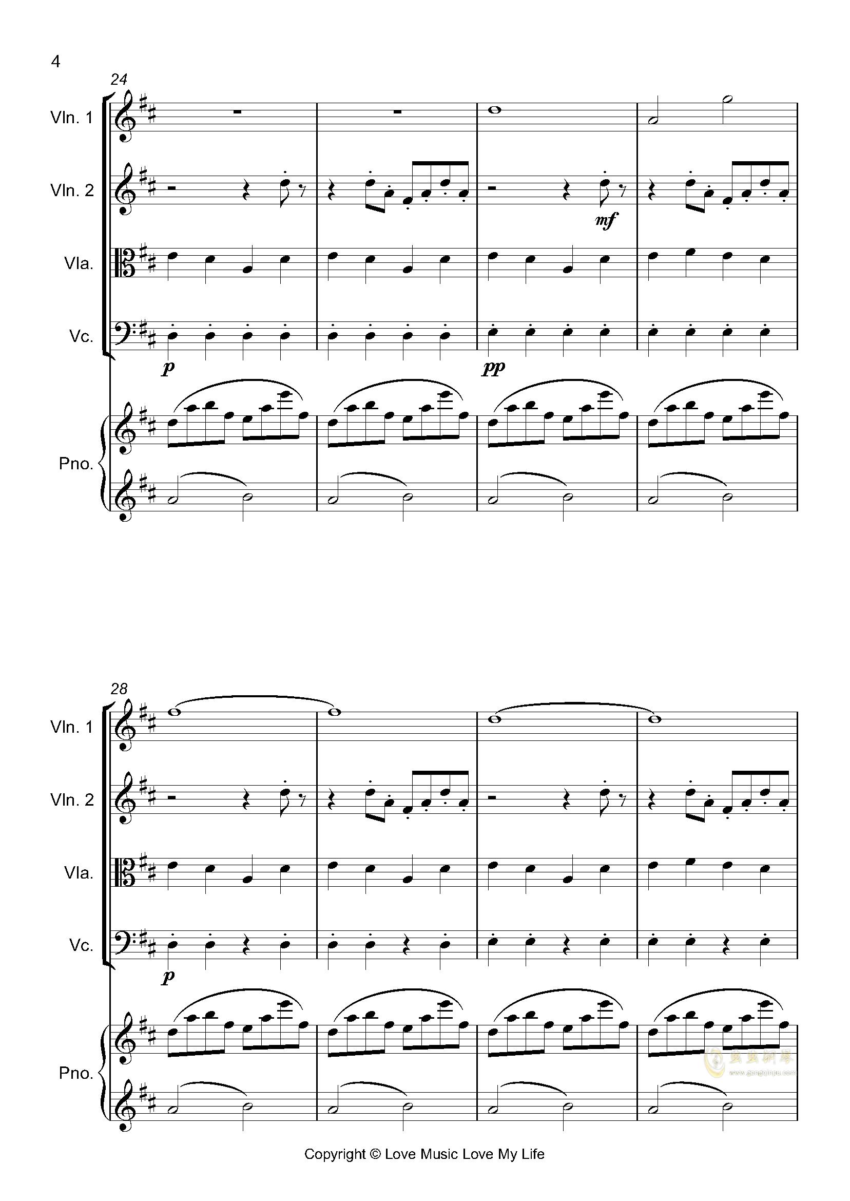 はじめての、�|京钢琴谱 第4页