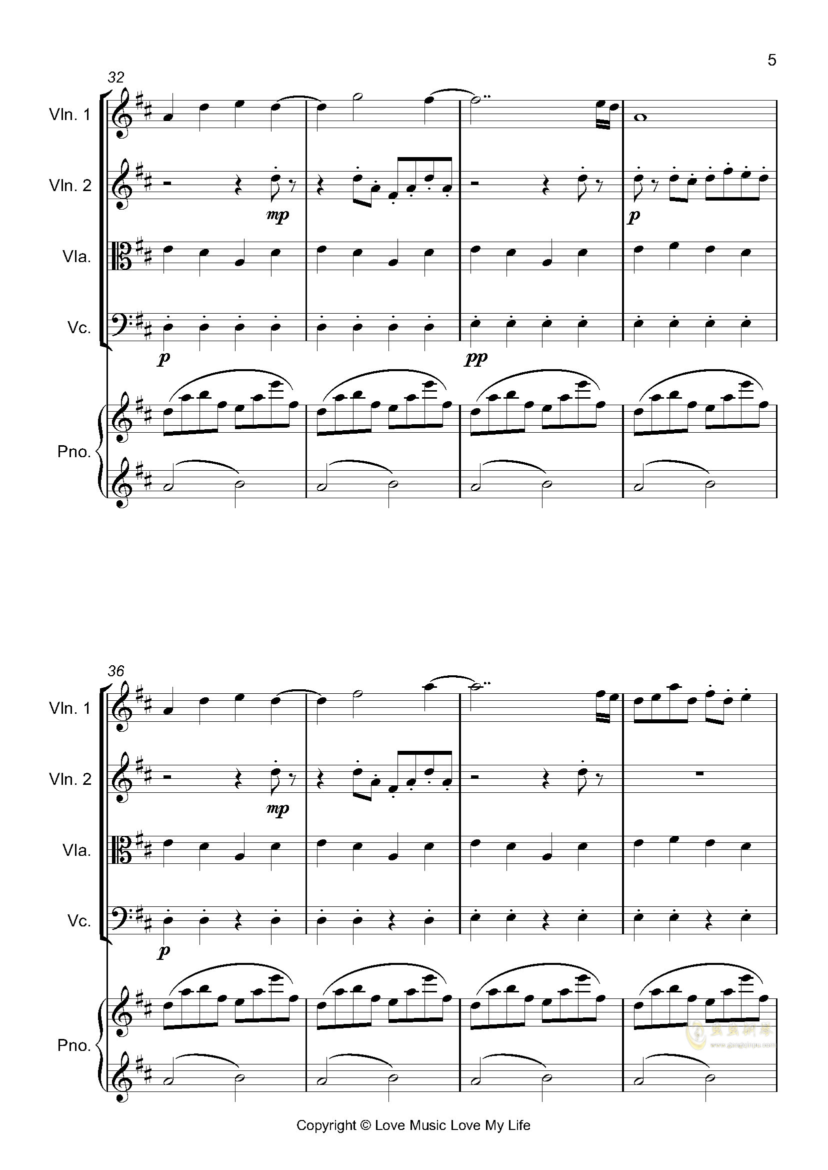 はじめての、�|京钢琴谱 第5页