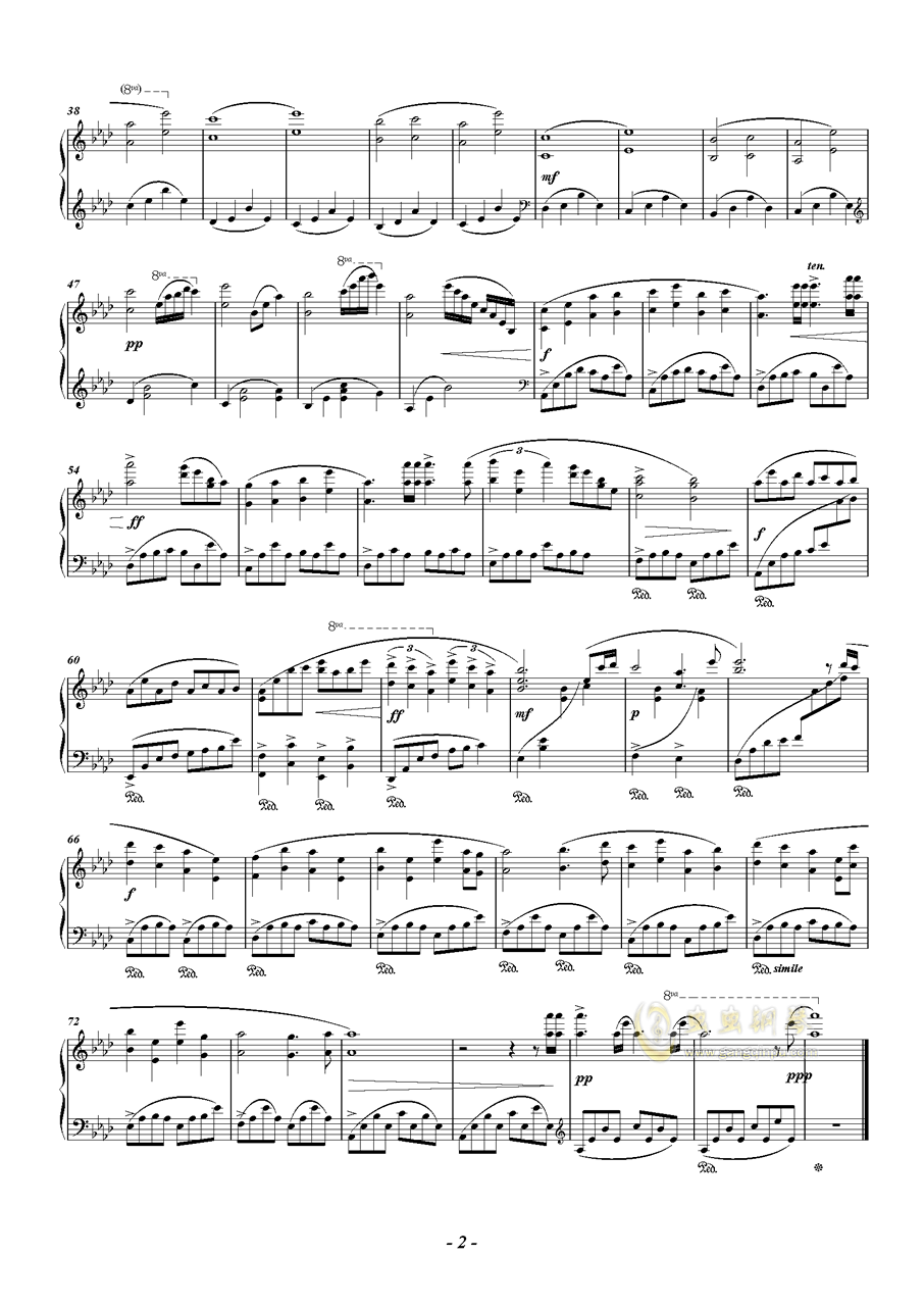 Ephemeral钢琴谱 第2页