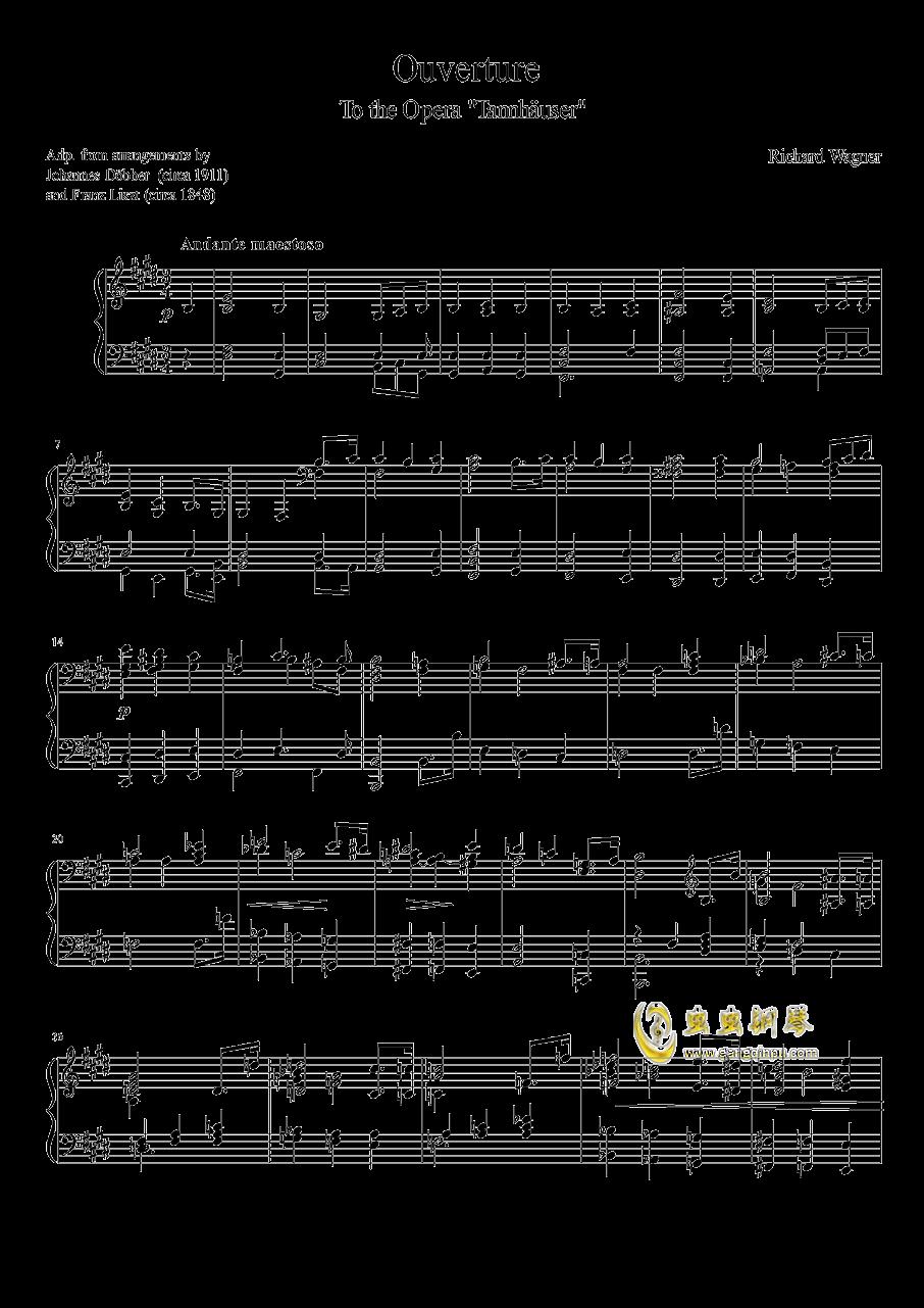 Tannh钢琴谱 第1页