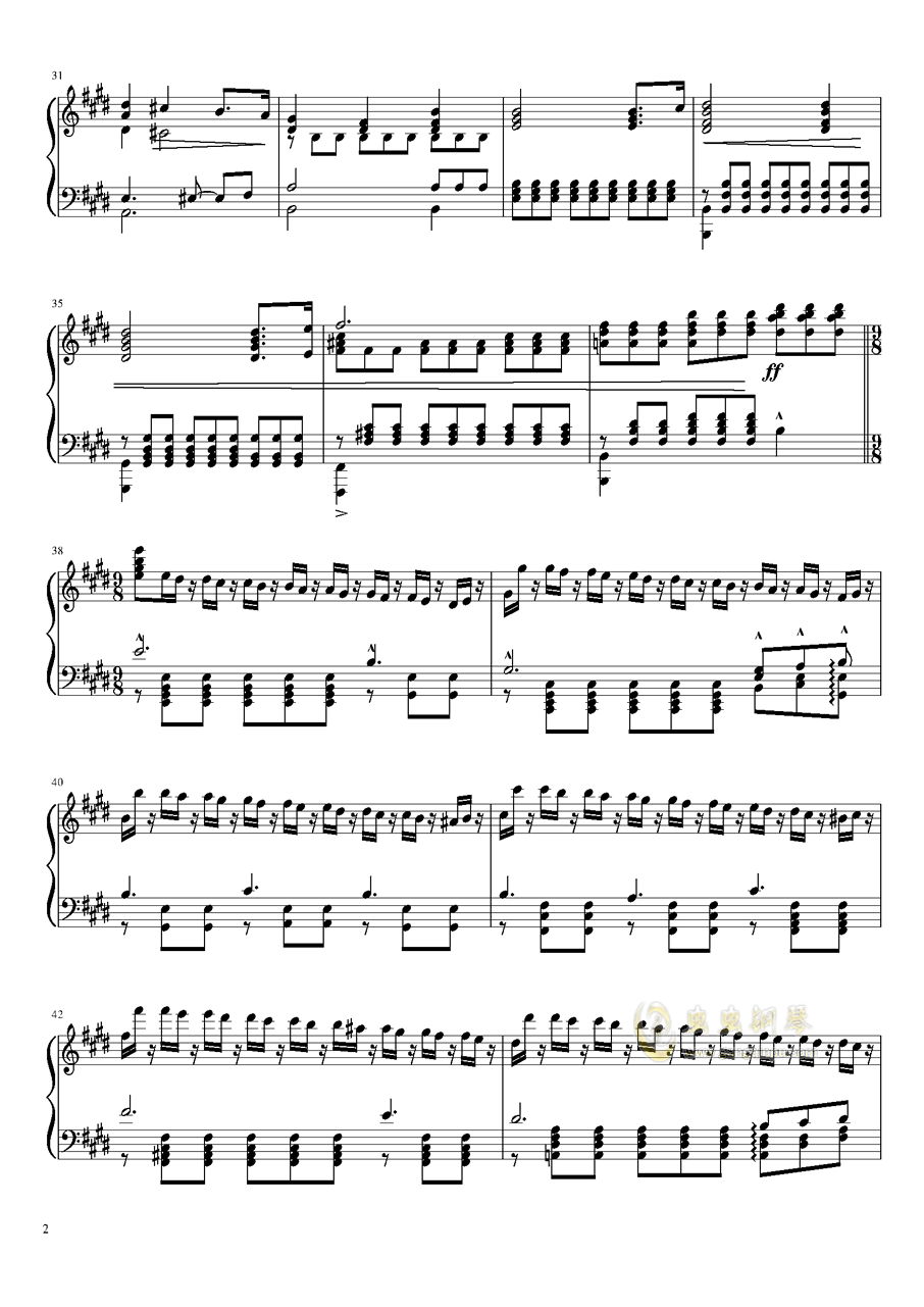 Tannh钢琴谱 第2页