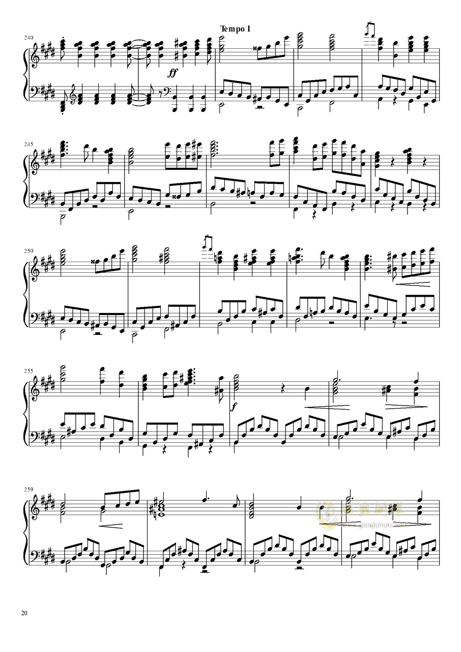 Tannh钢琴谱 第20页