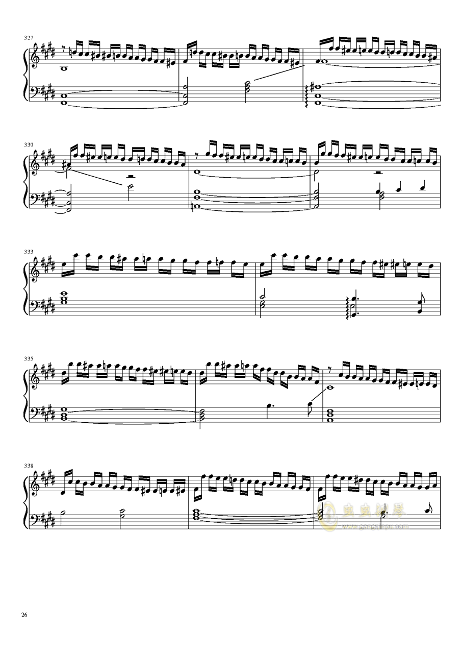 Tannh钢琴谱 第26页