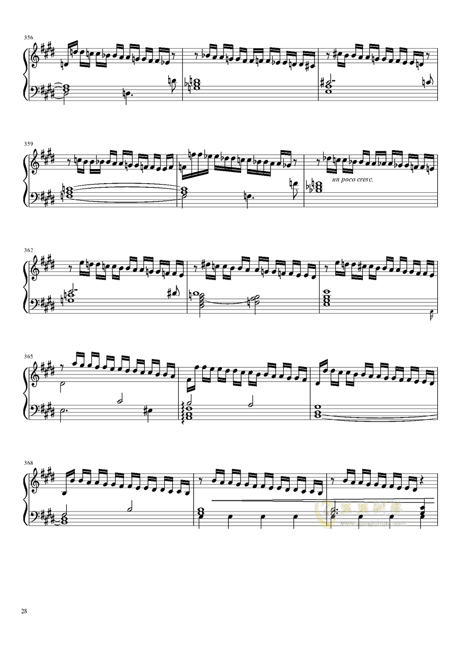 Tannh钢琴谱 第28页