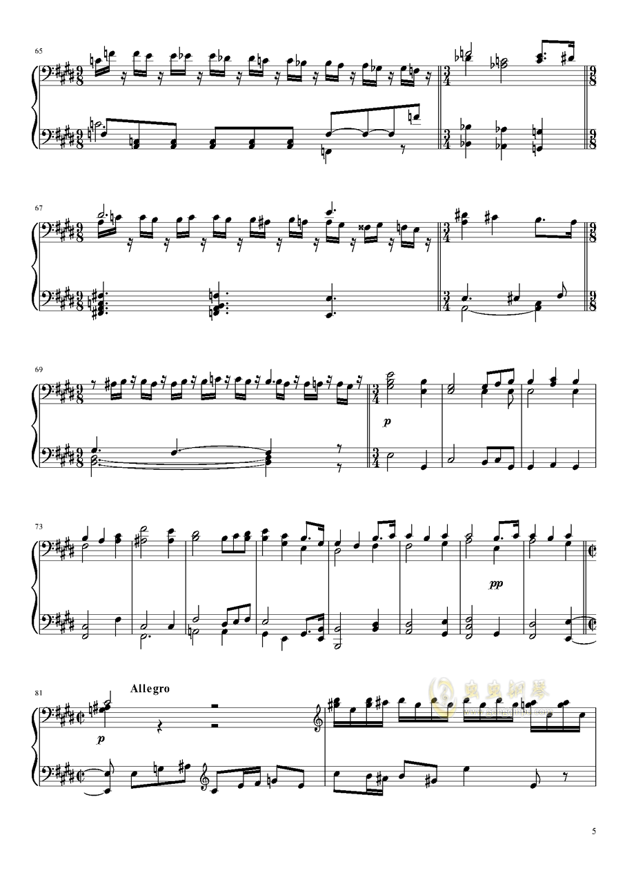 Tannh钢琴谱 第5页