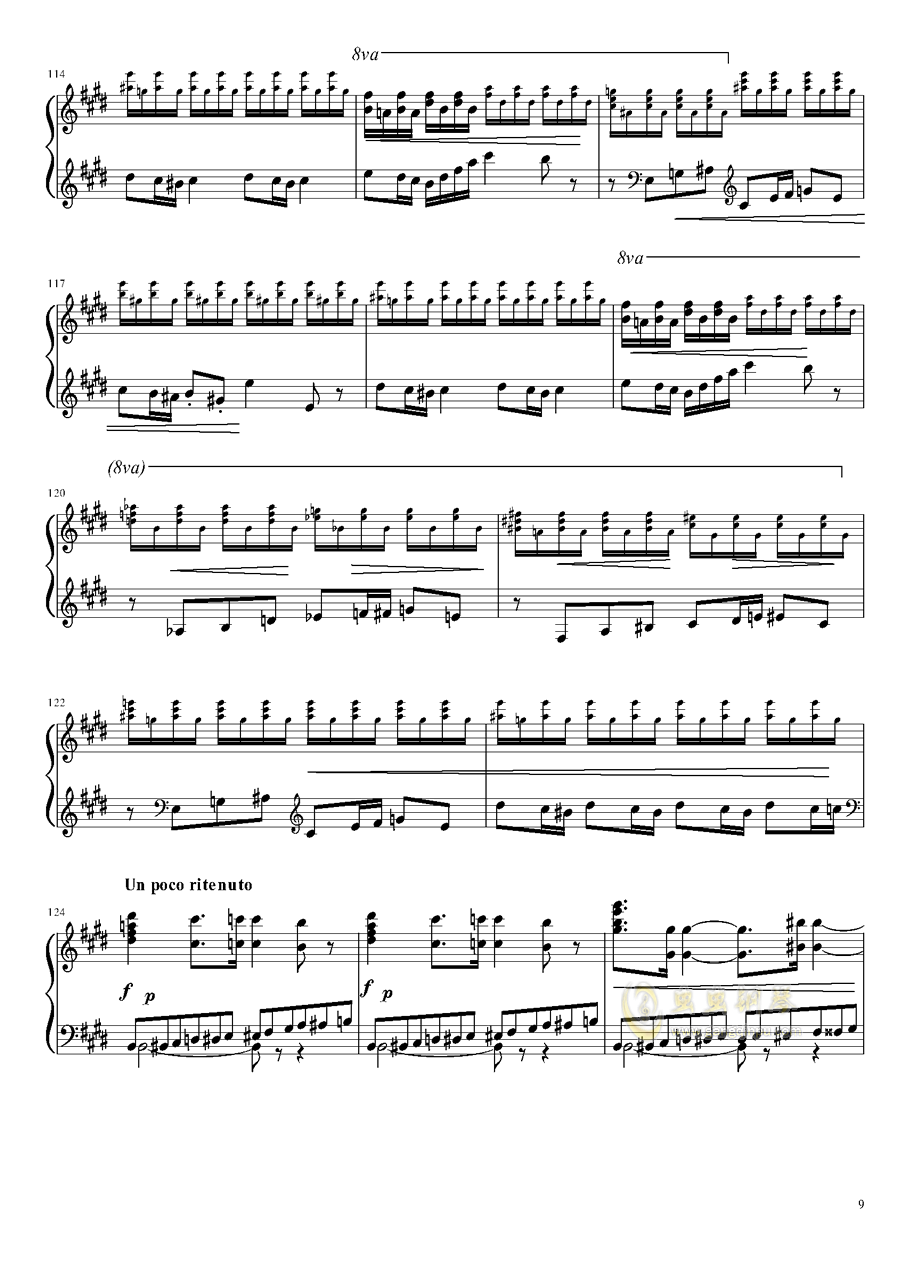 Tannh钢琴谱 第9页