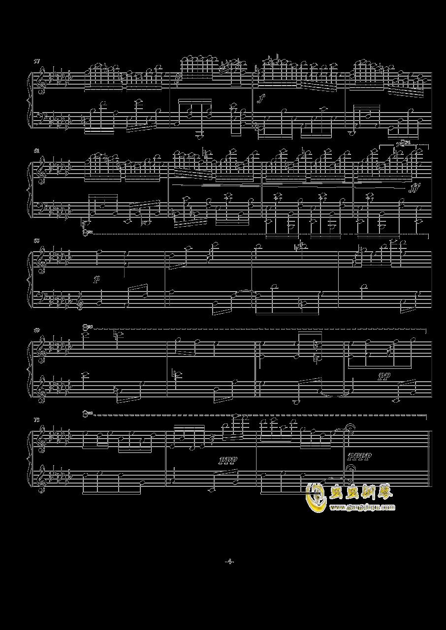 古树旋律(deemo)--Lune钢琴谱 第4页